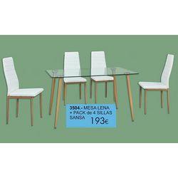 Pack Mesa + 4 sillas