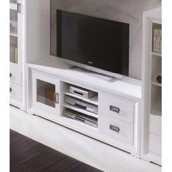 Mueble TV. Madera. Lacado blanco.