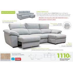 Sofá con chaise longue 290 cm