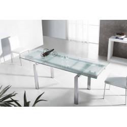 Mesa comedor. 140 (200) x 80 x 75 cm.
