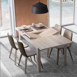 Mesa de comedor extensible sincronizado. 120 x 90 cm.