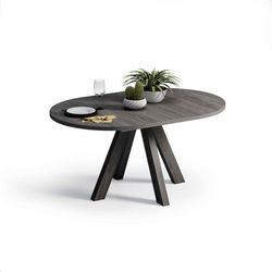 Mesa de comedor extensible Redonda. 100 cm.
