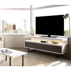 Mueble TV con patas metálicas.
